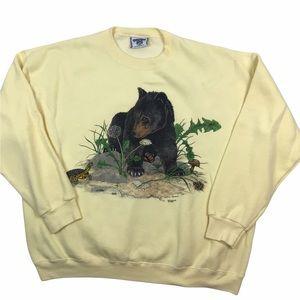 Vintage 1994 grizzly bear crewneck